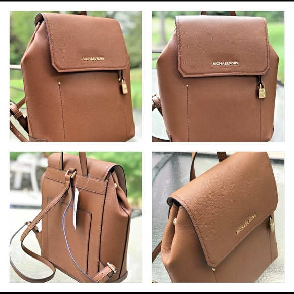 c9b8a777e59da Michael kors Hayes bagpack pebble leather luggage